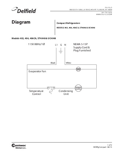 Welbilt emea product compact refrigerator wiring diagram cheapraybanclubmaster Images